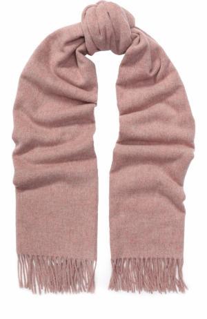 Вязаный шарф из овечьей шерсти Acne Studios. Цвет: розовый