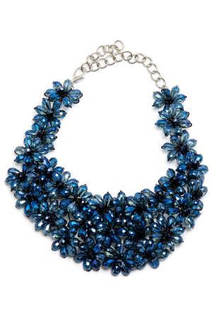 Колье Boho Chic. Цвет: синий, черный