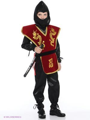 Карнавальный костюм НИНДЗЯ Батик. Цвет: бордовый, лиловый