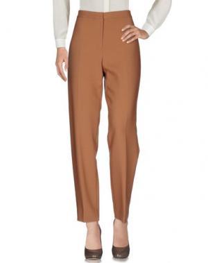 Повседневные брюки FONTANA COUTURE. Цвет: коричневый