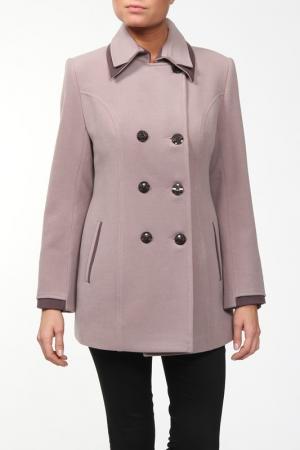 Пальто World Style. Цвет: розовый