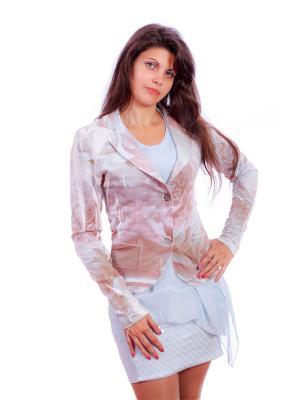Пиджак женский Rinascimento. Цвет: светло-коричневый, белый, бледно-розовый