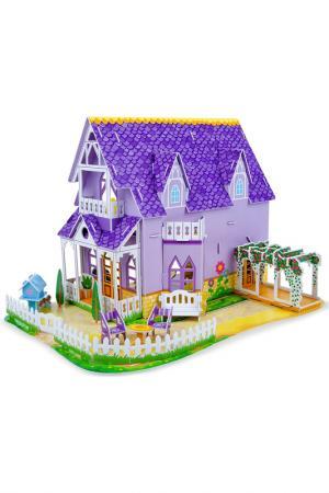 Пазл3D Пурпурный домик Melissa & Doug. Цвет: сиреневый, белый