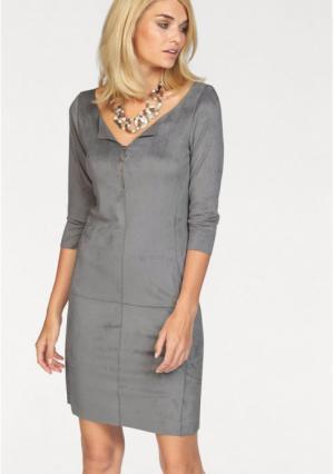 Платье Laura Scott. Цвет: серый