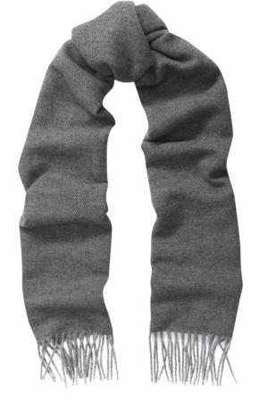 Кашемировый шарф с бахромой Piacenza Cashmere 1733. Цвет: серый