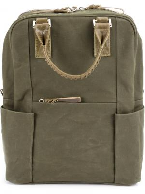 Woven handles bozy backpack Cornelian Taurus By Daisuke Iwanaga. Цвет: зелёный