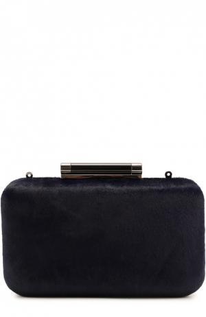 Клатч Tonda с отделкой мехом Diane Von Furstenberg. Цвет: синий