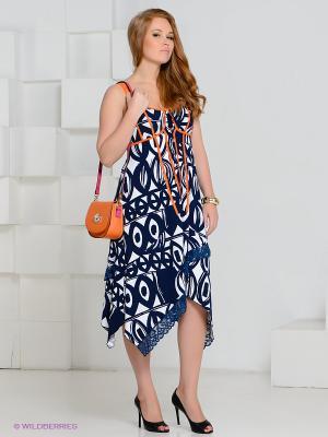 Сарафан MAT fashion. Цвет: синий, белый