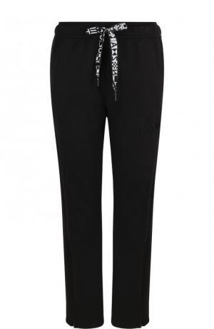 Укороченные однотонные брюки с эластичным поясом Proenza Schouler. Цвет: черный