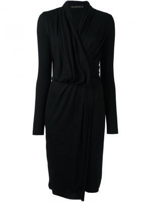 Платье с запахом Plein Sud. Цвет: чёрный