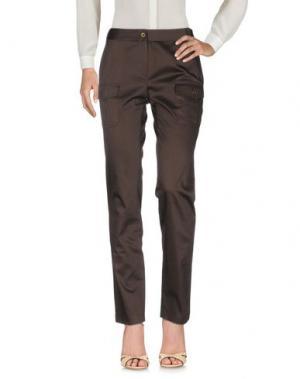 Повседневные брюки EMISPHERE. Цвет: темно-коричневый