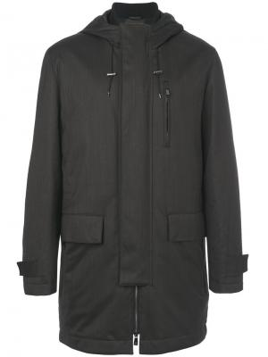 Flap pockets hooded coat Corneliani. Цвет: коричневый