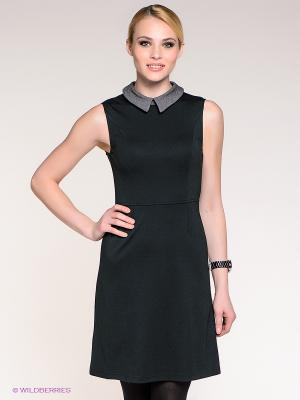 Платье Stefanel. Цвет: темно-зеленый
