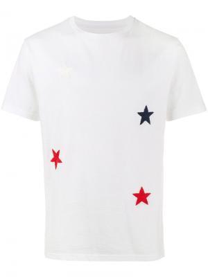Футболка с вышитыми звездами Sophnet.. Цвет: белый