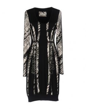 Короткое платье SONIA FORTUNA. Цвет: черный