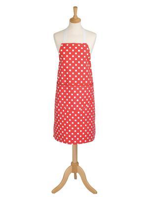 Фартук красный в белый горошек - Фламенко Dexam. Цвет: красный, белый