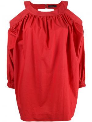 Блузка с открытой спиной Wandering. Цвет: красный