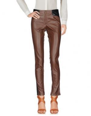 Повседневные брюки ANNARITA N TWENTY 4H. Цвет: коричневый