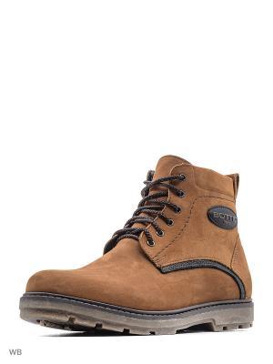 Ботинки зимние мужские. натуральный нобук ZET. Цвет: светло-коричневый
