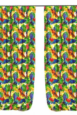 Фотошторы Амазоны BELLINO HOME. Цвет: зеленый, синий, красный, оранж