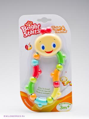 Развивающая игрушка-прорезыватель Гусеничка BRIGHT STARTS. Цвет: красный, желтый