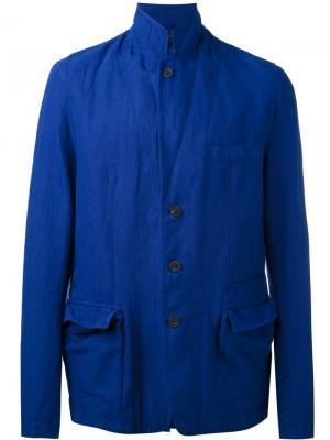 Пиджак на пуговицах Haider Ackermann. Цвет: синий