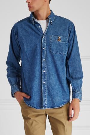 Джинсовая рубашка Joyrich. Цвет: синий