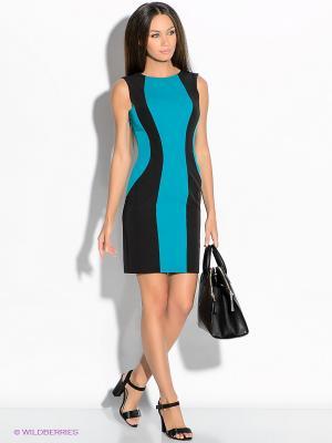 Платье Colambetta. Цвет: черный, бирюзовый