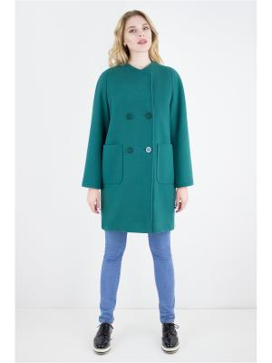 Пальто Elema. Цвет: зеленый