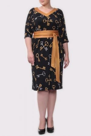 Платье Amazone. Цвет: черный, горчичный