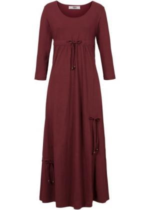Трикотажное платье макси (кленово-красный) bonprix. Цвет: кленово-красный