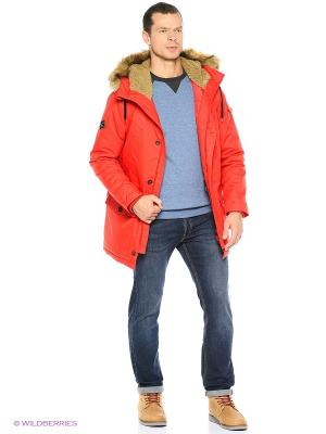 Куртка Quiksilver. Цвет: красный