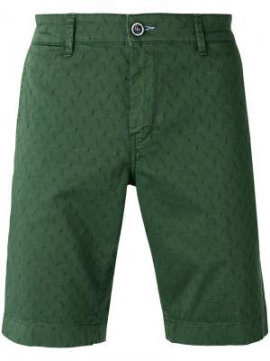 Фактурные шорты Re-Hash. Цвет: зелёный
