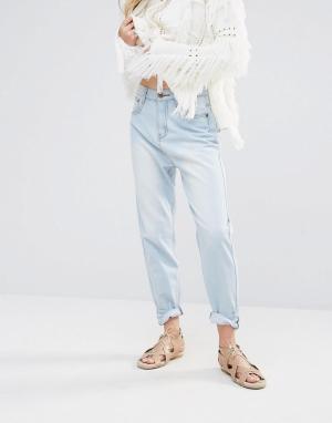 Ebonie n ivory Джинсы в винтажном стиле Kimi. Цвет: синий