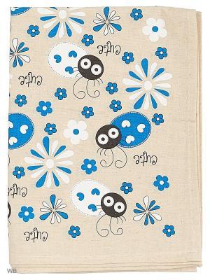 Полотенце льняное Бант синий GrandStyle. Цвет: синий, серый