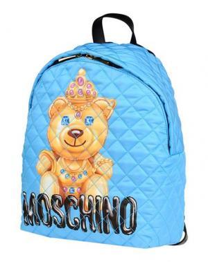 Рюкзаки и сумки на пояс MOSCHINO. Цвет: лазурный