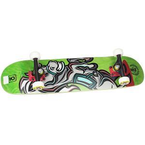 Скейтборд в сборе детский  Horse Green/Yellow 28 x 7 (17.8 см) Юнион. Цвет: светло-зеленый,мультиколор