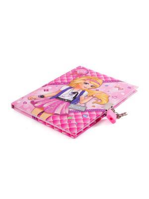 Личный дневник с замочком, 56л. 19*14см Русские подарки. Цвет: розовый
