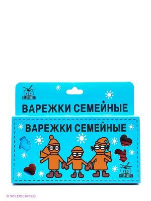Варежки семейные Экспедиция. Цвет: оранжевый