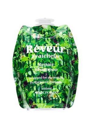 Reveur fraicheur живой бессиликоновый шампунь для восстановления поврежденных волос 340мл см блок. Цвет: зеленый