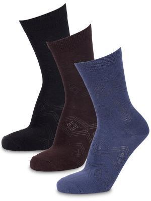 Носки Expert, (3 пары) Artsocks. Цвет: черный, коричневый, синий