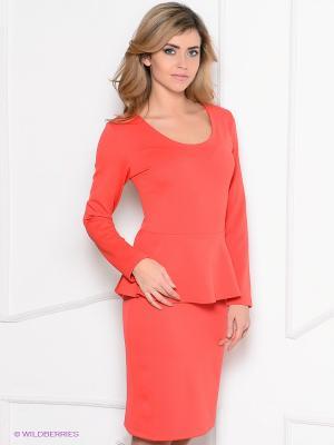 Платье Enna Levoni. Цвет: коралловый