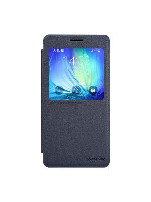 Samsung Galaxy A7(A700) Nillkin Sparkle leather case. Цвет: черный