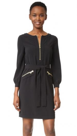 Платье с длинными рукавами Boutique Moschino. Цвет: голубой