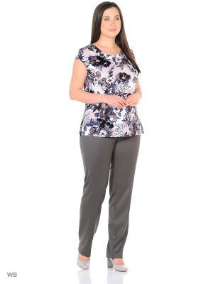 Блузка AMAZONE. Цвет: темно-бежевый, белый