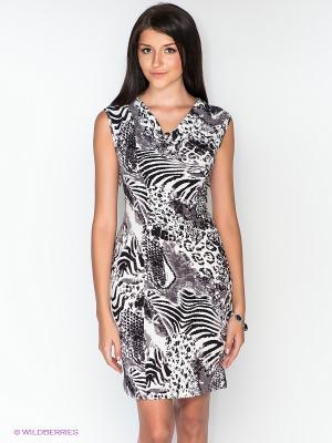 Платье Dea Fiori. Цвет: белый, черный, серый