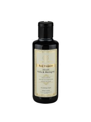 Шампунь Амла и Брингарадж для восстановления волос Khadi Natural. Цвет: темно-зеленый