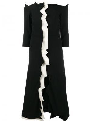 Платье с открытыми плечами Tata Naka. Цвет: чёрный