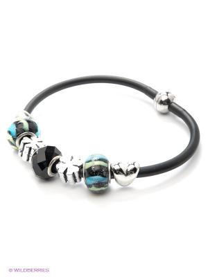 Браслет Bijoux Land. Цвет: черный, синий, серебристый
