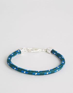 Jack Wills Синий веревочный браслет Bracken. Цвет: синий